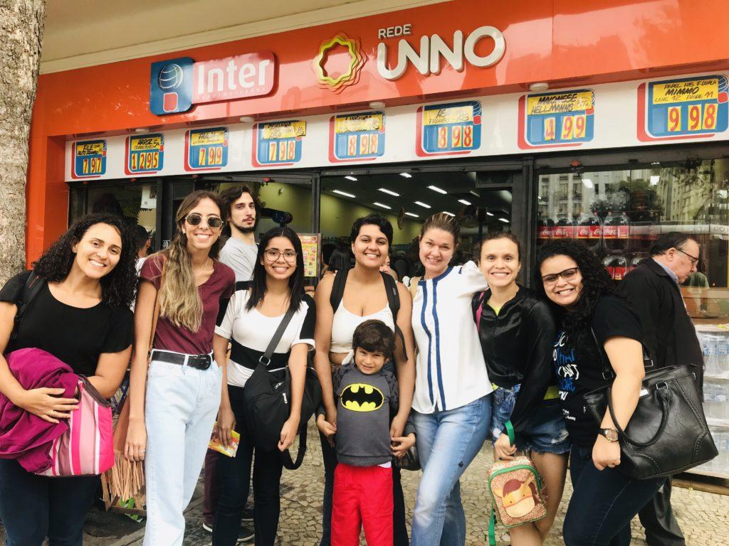 Na última sexta-feira, a classe de Marketing fez uma aula externa no supermercado para ver na prática como funciona trade marketing e merchandising.
