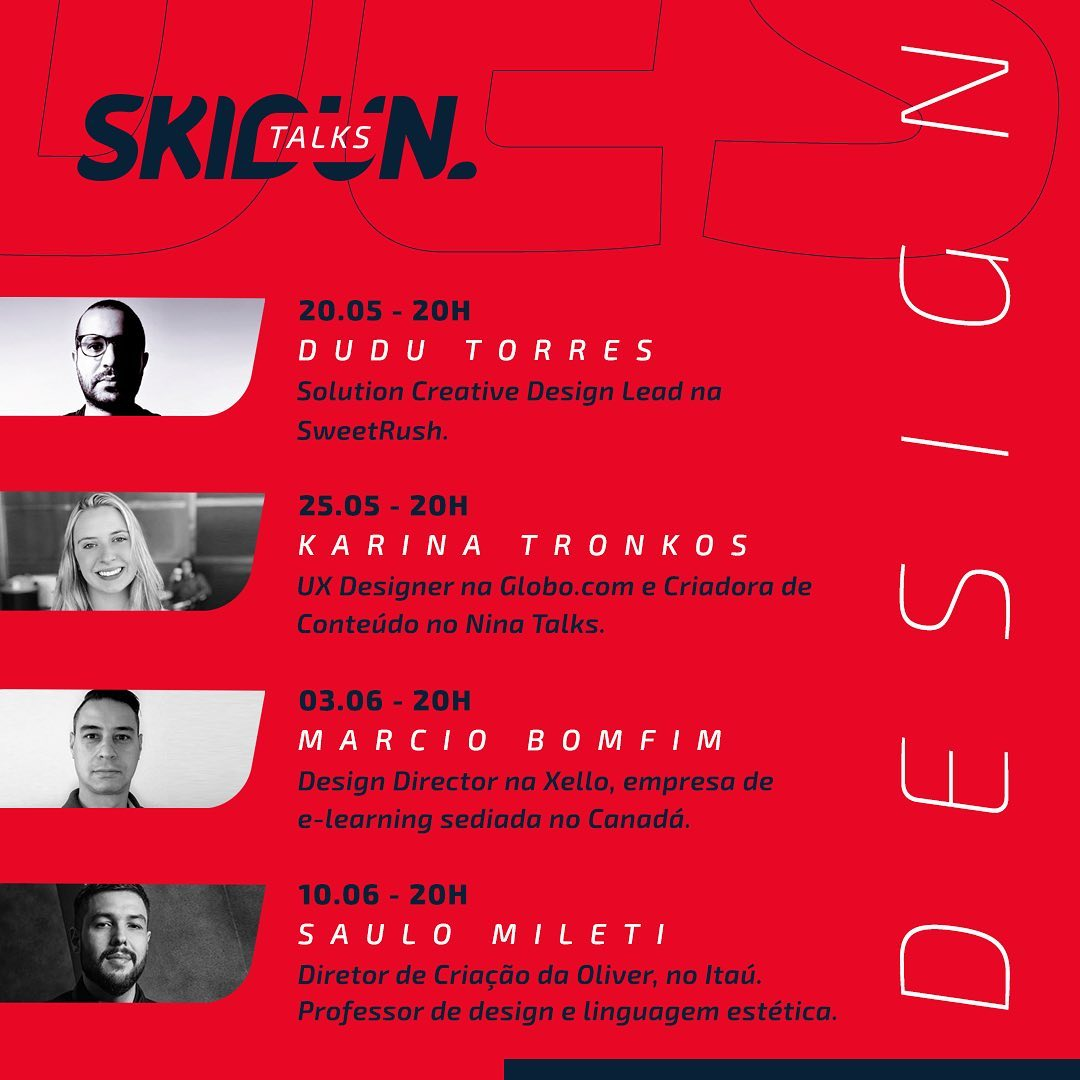 Skidun Talks traz profissionais do mercado criativo e de marketing para falar sobre Design.